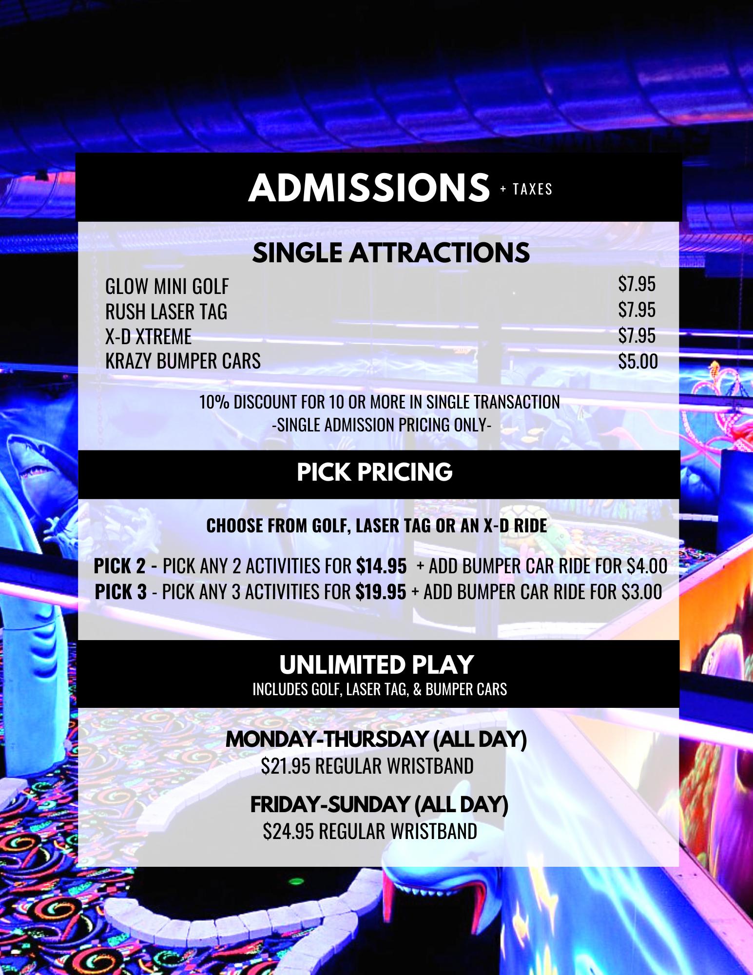 Prices of U-Puttz Amusement Centre